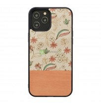 MAN&WOOD case for iPhone 12 Pro Max pink flower black