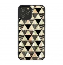 iKins case for Apple iPhone 12/12 Pro pyramid black