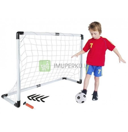 FOOTBALL SET - GOAL + BALL + PUMP + PEGS *5617