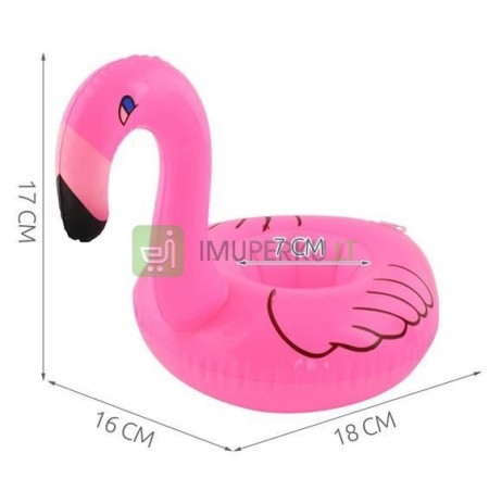 Inflatable Cup Holder Flamingo Donut Island Watermelon Bath Toy * 5677