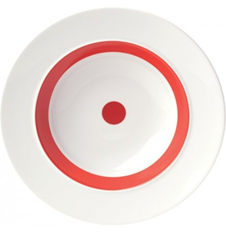 """ViceVersa Soup Plate """"The Dot"""" 23.5cm red 15132"""
