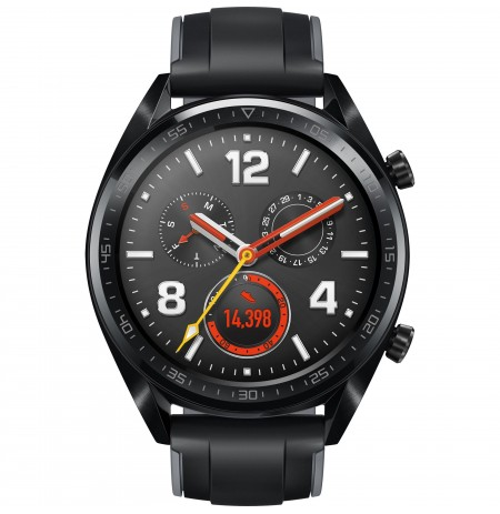 Huawei Watch GT black stainless steel with graphite black silicone strap 46mm (FTN-B19)
