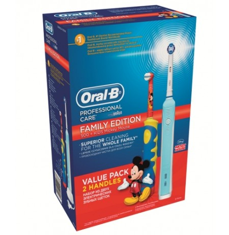 Braun Oral-B Family Edition 500+ Kids Mickey Mouse