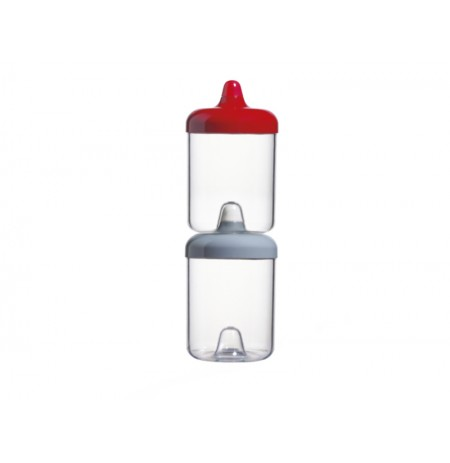 ViceVersa round canister 1L red 11331