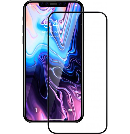 Devia Real Series 3D Curved Full Screen Explosion-proof Tempered Glass iPhone 11 Pro black