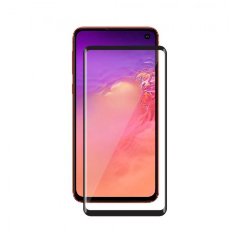 Devia Real Series 3D Curved Full Screen Tempered Glass (with fingerprint unlock) Samung S10 black
