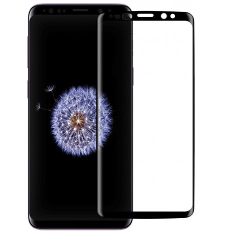 Devia 3D Curved Tempered Glass Seamless Full Screen Protector for Samsung Galaxy S9 Plus black
