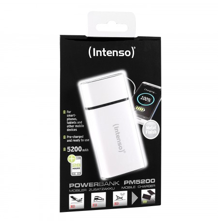 Intenso PM5200 metal finish white 7323522 (5200mAh)