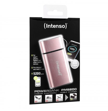 Intenso PM5200 metal finish rose 7323523 (5200mAh)