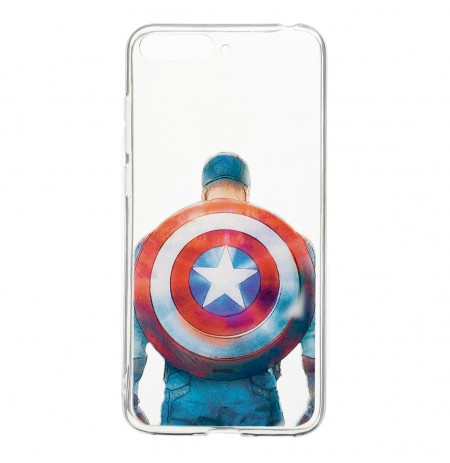 Marvel Captain America 002 Back Cover Transparent for Huawei Y6 2018