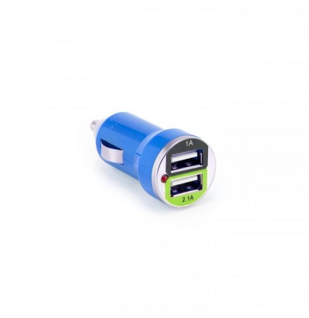 Sbox Car Charger CC-221BL / 2 Ports - 2.1A blueberry blue