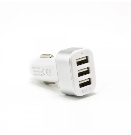 Sbox Car Charger CC-331W 3.1A white/silver