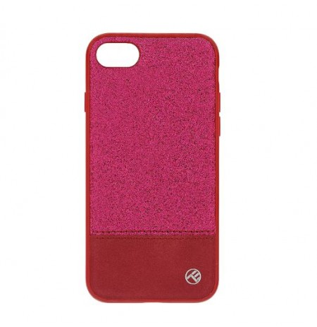 Tellur Cover Synthetic Leather Glitter II for iPhone 8 pink