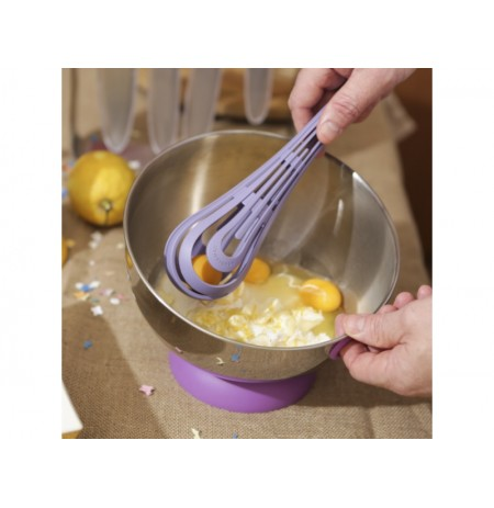 ViceVersa Kogel Mogel Bowl + Whisk Set violet 16242
