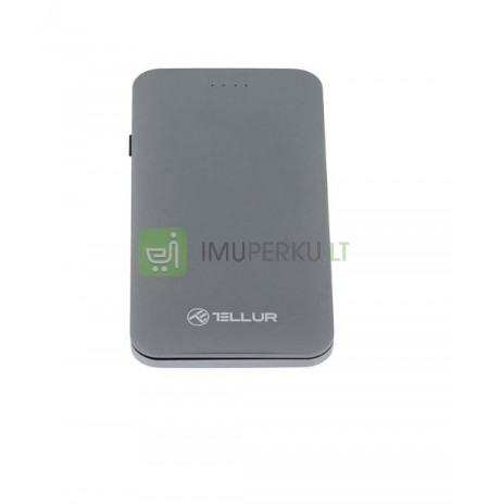 Tellur Power Bank QC 3.0 Fast Charge, 5000mAh, 3in1 gray