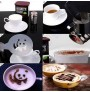 Coffee barista stencils 16 pcs.