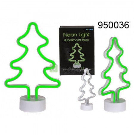 Green neon lamp - Christmas tree