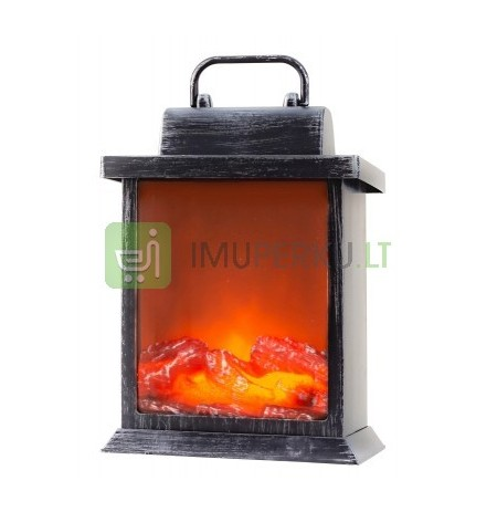 Table chimney LED operated h - 22cm b - 15cm (silv