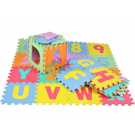 Large FOAM puzzles numbers and letters MAT 36 pcs