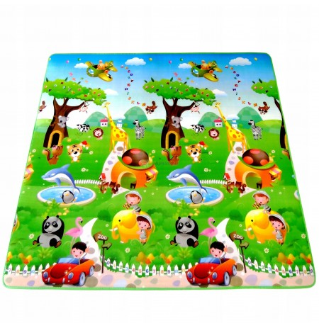 LARGE THERMAL FOAM MAT TWO-SIDED EDUCATIONAL