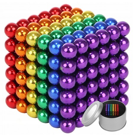 Magnetic Balls 216pcs 3mm Rainbow Balls + Box