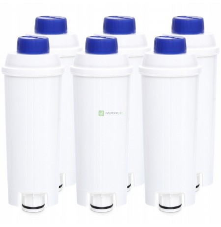 6x Water filter for the DELONGHI DINAMICA ECAM coffee machine