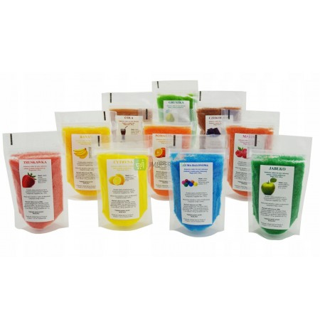 Sugar 10x 100g COLORED and FLAVORED in bags