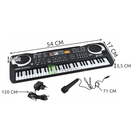Keyboard Electronic Organ for Learning Microphone 61