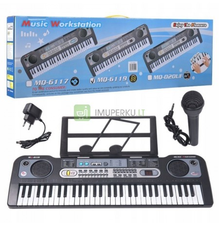 LARGE BODY KEYBOARD + USB MICROPHONE 61 KEYS