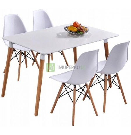 Set DSW table + 4 TOLV Scandinavian Style Chairs