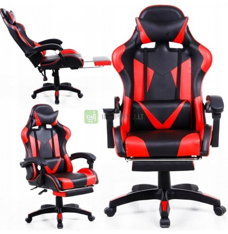 OFFICE GAMING CHAIR 360 ° LEATHER PLAYER FOOTREST
