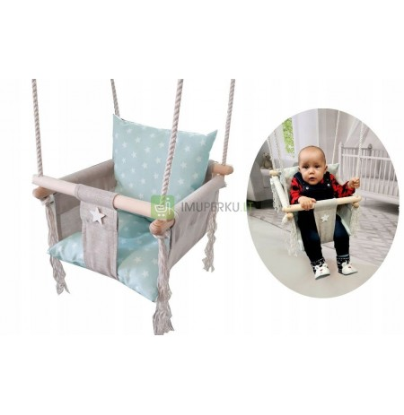 Swing for children with backrest DoM garden colors