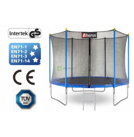 Garden trampoline with mesh and ladder 255cm / 8ft