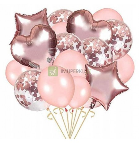 Rose gold. Balloons for 18th birthday, wedding, party P36