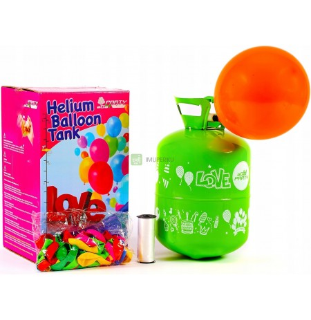 0.42 m3 HELICAL BOTTLE for 50 BALLOONS + 50 x BALLOONS