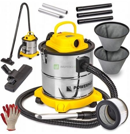 INDUSTRIAL FIREPLACE ASH VACUUM CLEANER 2000W
