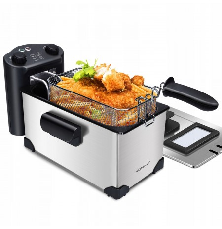 The fryers have a timer, 2000W, 3L Aigostar