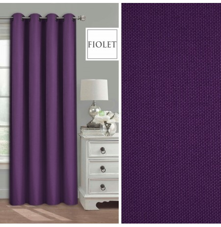 set of 2x CURTAIN VOILE 2x CURTAINS 2x CLIPPING set