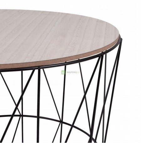 RINO WIRE COFFEE TABLE INDUSTRIAL BASKET 40cm