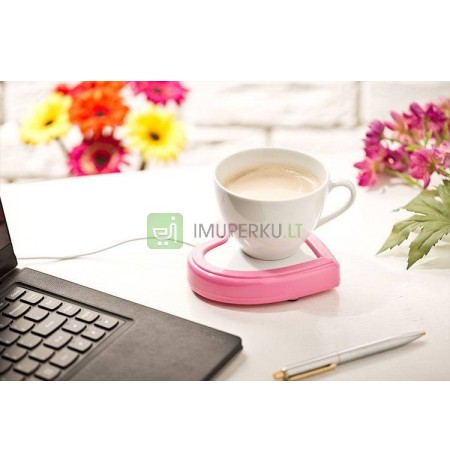 Heart shaped cup warmer USB