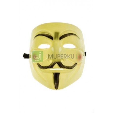 Anonymous mask, Guy Fawkes, V for Vendetta mask - YELLOW