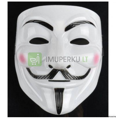 Anonymus, V for Vendetta mask - WHITE