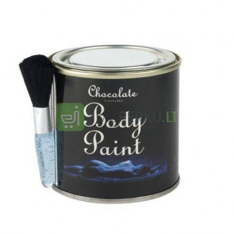 Chocolate body paint in a can