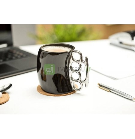 Brass Knuckle Mug - black