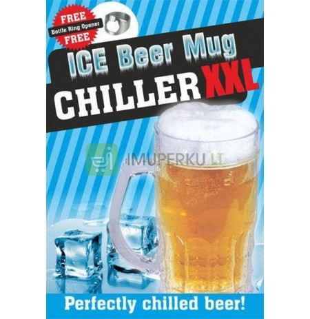 Ice beer mug CHILLER XXL 650ml - classic