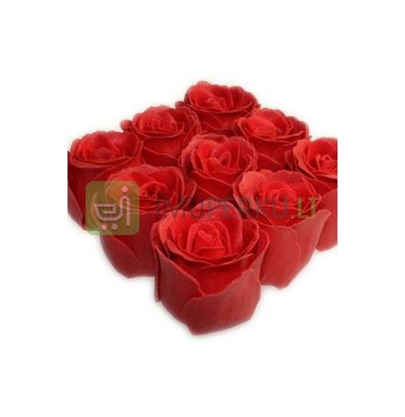 Soap roses in metal basket