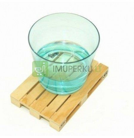 Pallet wood coaster 4 pcs.