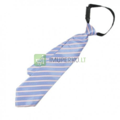 Tie flask - blue with strips