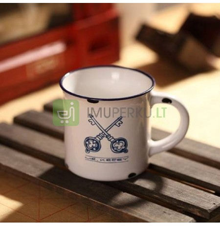 Retro MINI porcelain mug - Keys