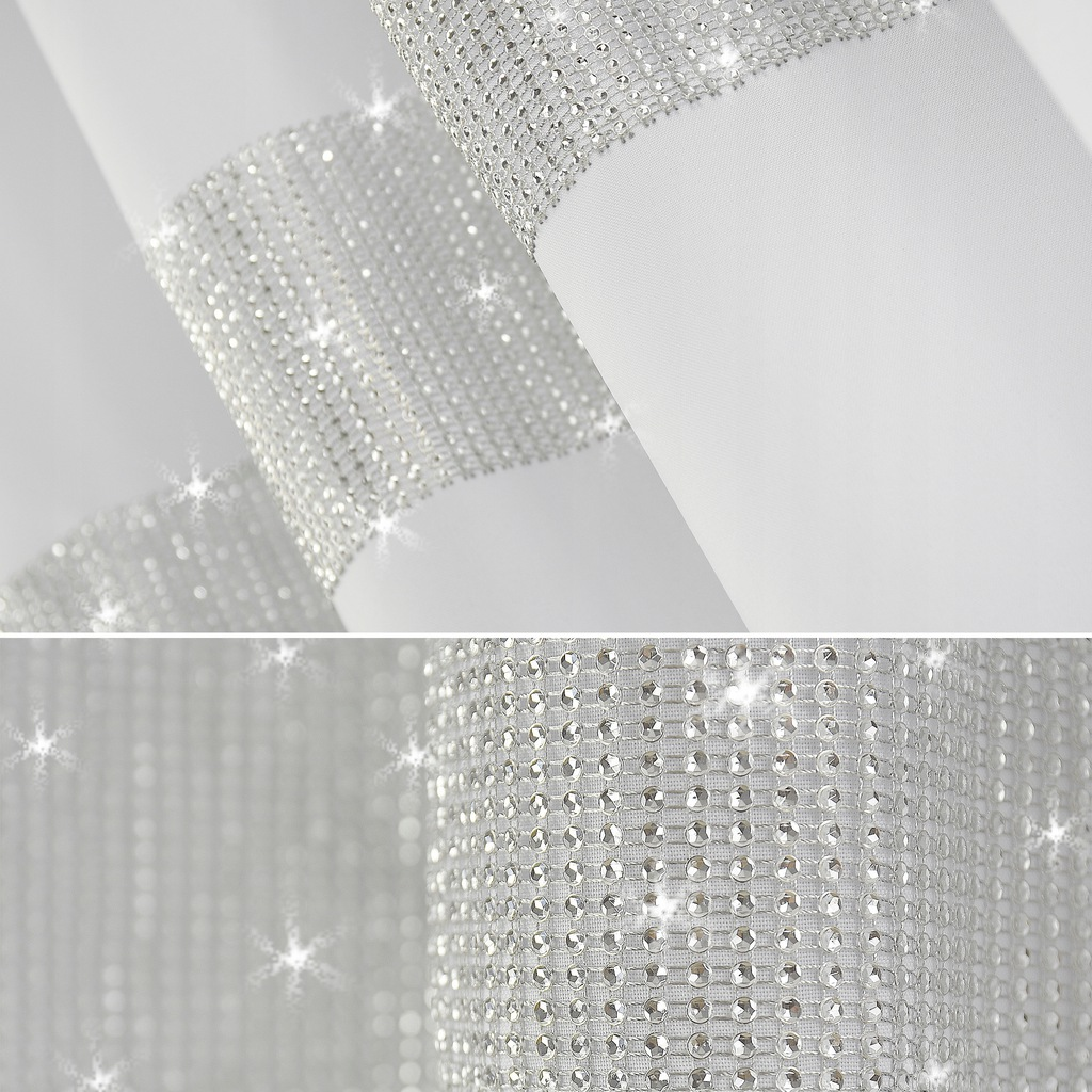 CURTAIN ZIRCONIES 145x160 COCONES TAPE DIAMONDS